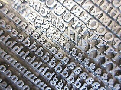 Letterpress Lead Type 18 Pt. Buffalo H. C. Hansen Type Foundry A24