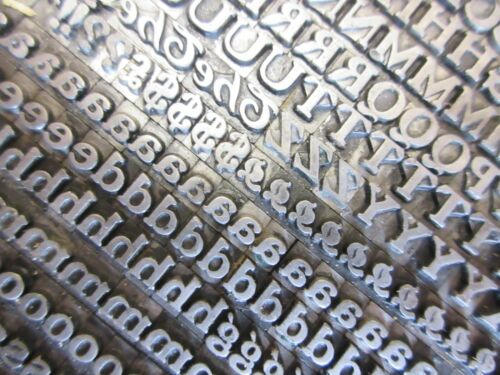 Letterpress Lead Type 18 Pt. Buffalo ( H. C. Hansen Type Foundry )    a24