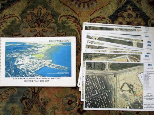 1997 MASTER PLAN SAN FRANCISCO INTERNATIONAL AIRPORT w/ 42 Drawings + 31 Photos
