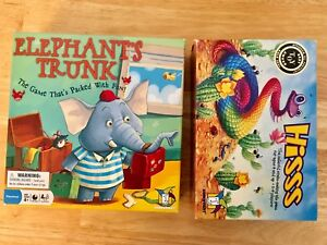 Board games - Elephant's Trunk and Hisss