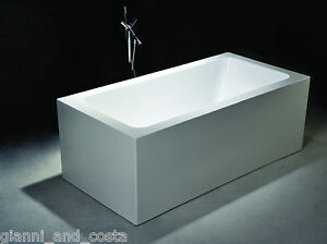 Bathroom acrylic free standing bath tub 1500 x 750 x 600 for Free standing tubs for sale