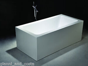 Bathroom Acrylic Free Standing Bath Tub 1500 x 750 x 600 - Freestanding