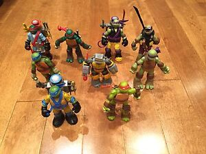 Personnages, figurines des tortues Ninja
