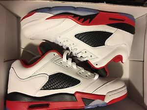 Air Jordan Fire Red 5 Low - size 9 Brand New DS