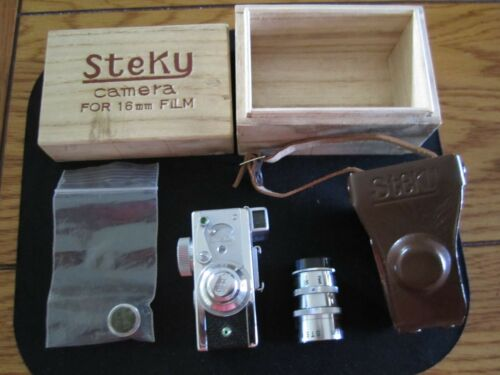 Vintage Steky IIIB subminiature 16 mm spy camera with telephoto lens