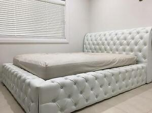 Queen leather bedroom suite with matching bed side tables Fairfield West Fairfield Area Preview
