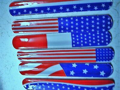 USA SLAP BRACELETS ( LOT OF 12 ) CARNIVAL PARTY TOYS, FAVORS