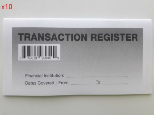 10 - Checkbook Transaction Registers - 2020-22 Calendar - Check Book Bank