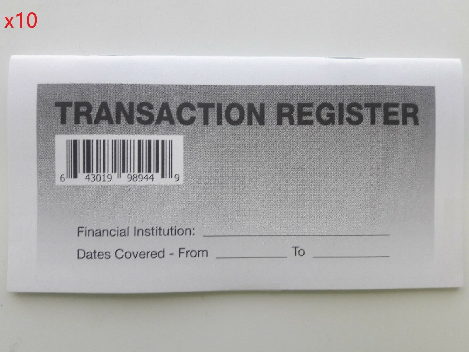 10 - Checkbook Transaction Registers - 2019-21 Calendar - Check Book Bank