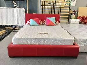DELIVERY TODAY MODERN Queen LEATHER bed & mattress QUICK SALE Belmont Belmont Area Preview