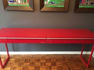 Red IKEA Desk (Besta Burs)