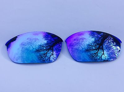 ENGRAVED POLARIZED ICE BLUE MIRROR REPLACEMENT OAKLEY HALF JACKET 2.0 LENSES