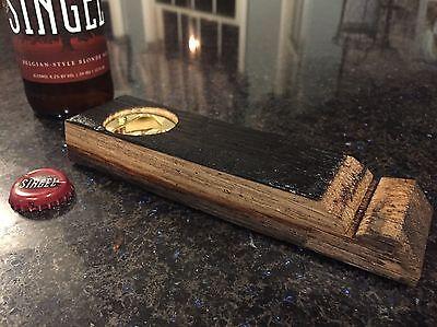 Genuine Bourbon Barrel Stave Bottle Opener Cask Beer Wood Blanton's' + Extra (Wood Bottle Opener)