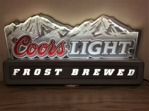 🍺 Rare Vintage Large COORS LIGHT BAR SIGN Luminated Rocky Mountains SIgn
