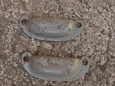 Antique Cup Pull Cast Iron Handles  3 1/4