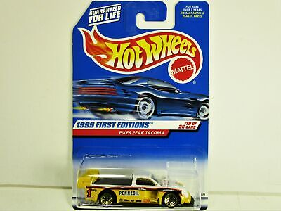 HOT WHEELS 1999 FIRST EDITIONS PENNZOIL PIKES PEAK TOYOTA TACOMA NEW IN PACKAGE