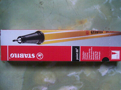 10 Stabilo Point 88 Fineliner Pen 0.4mm Fine
