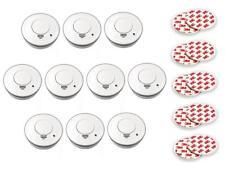 10er Set Rauchmelder mit Magnethalter