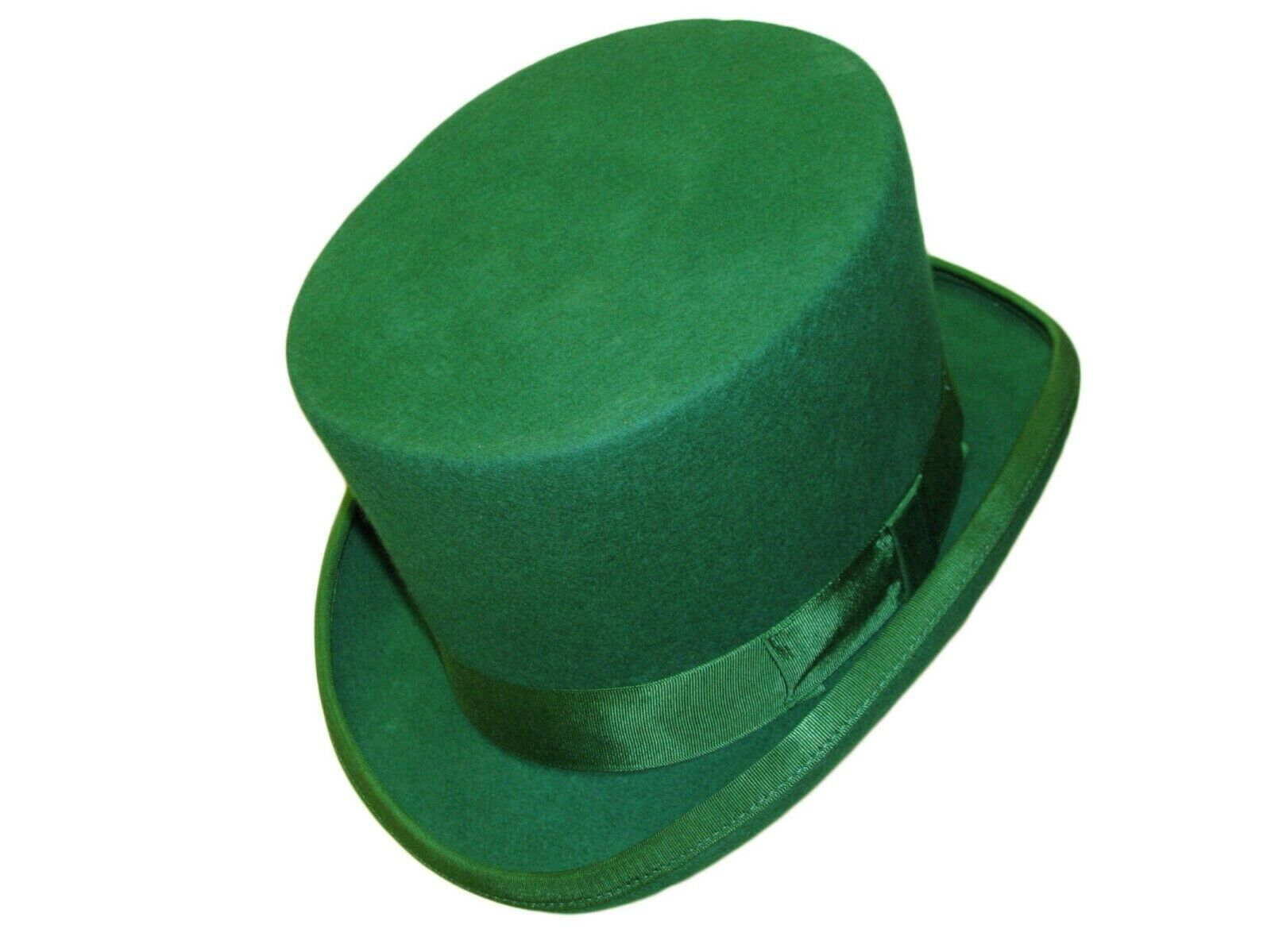 Green Bowler Hat Quality Hand Made 100/% Wool Wedding Ascot Hat Colours All Sizes