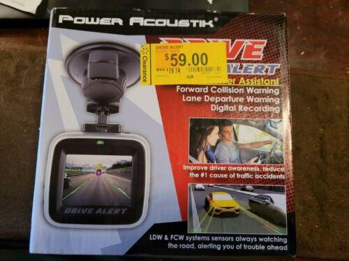 POWER ACOUSTIK Lane Departure/Front Collision Warning w/ Car Dash Cam DVALT