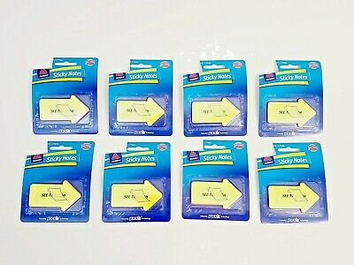 Lot Of 8 Avery See Through Arrow Sticky Notes 60 Count Each Pack Pads Bookmark