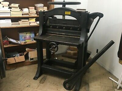 Antique Vintage Chandler And Price Co. Manual Paper Guillotine Cutter 26 Inch