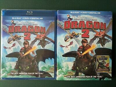 How to Train Your Dragon 2 (Blu-ray + DVD) FACTORY SEALED, SLIPCOVER Ohio seller - Fantasy Factory Halloween
