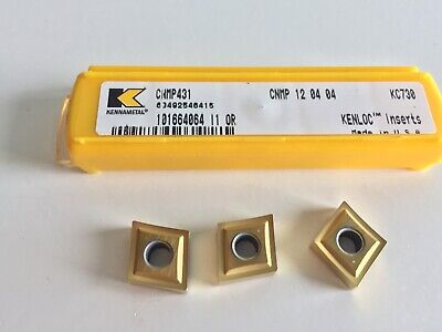 Kennametal Cnmp431 Turning Kc730 Inserts...5 Inserts As Shown.