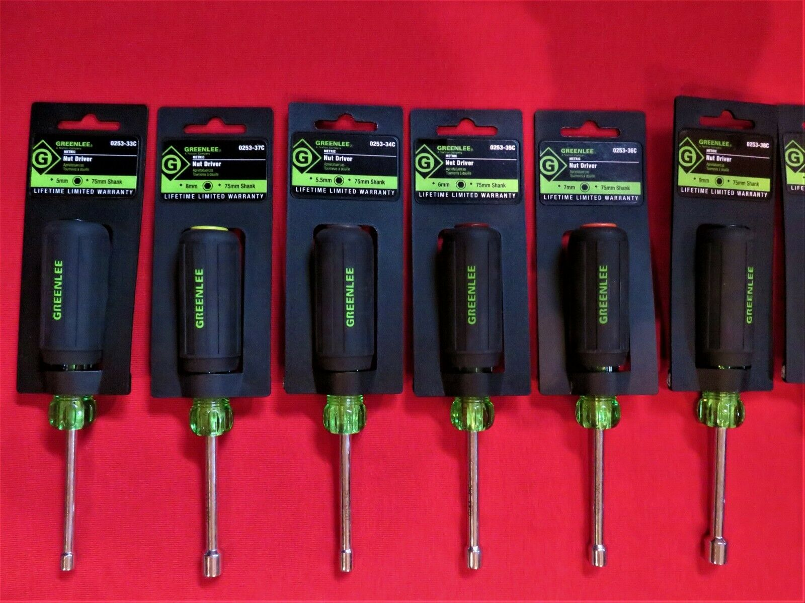 GREENLEE TOOLS METRIC NUT DRIVERS 10 PIECE SET HOLLOW SHAFT 1