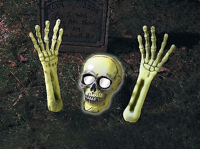 Skeleton Coming Out of Ground Light Up Halloween Outdoor Yard Decoration Prop](Halloween Outdoor Decorations)