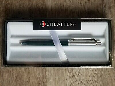 Sheaffer Sentinel Premium Ballpoint Pen Green Chrome W Gift Box Nice Gift