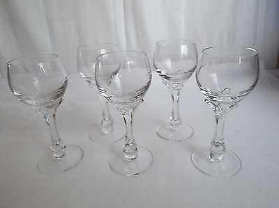 Nachtmann Topas Bleikristall edel 5 Likör Gläser
