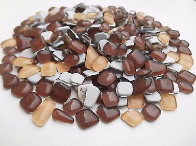 Mosaiksteine Glastropfen 1000 g Braun Beige Mix Glassteine Drops zum Basteln