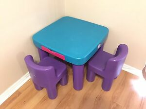 Little Tykes table with 2 chairs and 2 drawers  Oakville / Halton Region Toronto (GTA) image 1