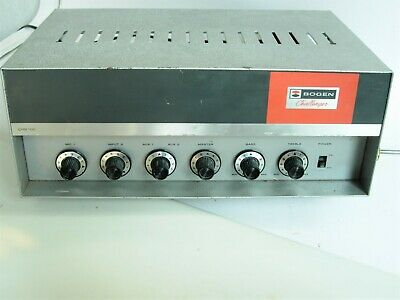 Vintage Bogen Challenger CHB 100 Tube Amplifier - Works well now- may need tubes