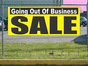 Yellow Black & White GOING OUT OF BUSINESS SALE Banner ...