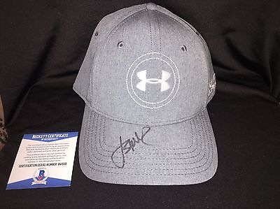 fd3e7004a2b Jordan Spieth Signed Official Under Armour Hat Beckett Auth Masters Champ