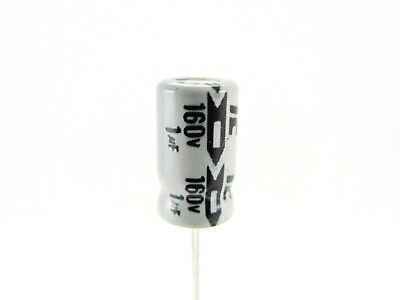 5x 1uf 160v - Electrolytic Cap. - Illinois Capacitor 105rsm160m - Nos