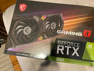 MSI NVIDIA GeForce RTX 3060 GAMING X 12GB GDDR6 Graphics Card *IN HAND* 🔥🔥🔥