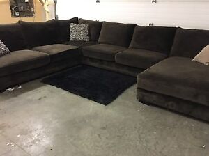 GORGEOUS down filled 4 piece sectional