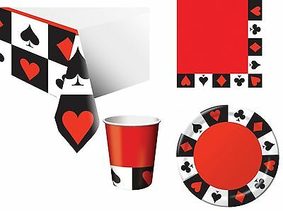 rthday Party Tableware Napkins Plates Cups Tablecover (Casino Birthday Party)