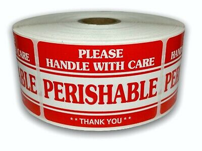 500 Labels 2x3 Perishable Handle With Care Shipping Mailing Fragile Stickers