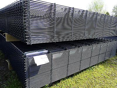 Aktion Set komplett 10 m x 183 cm anthrazit Gittermatten Metallzaun Gartenzaun