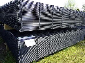 Doppelstabmattenzaun Komplettset 10m 183 cm anthrazit Gittermatten Metallzaun