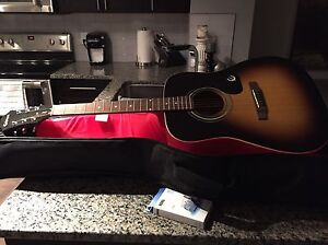 Epiphone acoustic guitar with case and tuner