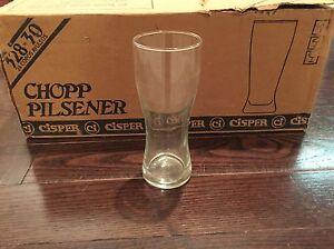 23 Unused Beer Glasses