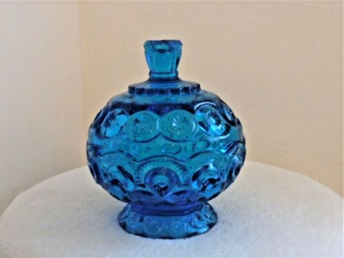 MOON AND STAR COLONIAL BLUE SMALL COVERED COMPOTE