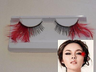 Künstliche Wimpern Delicate Rot Federn Tails Wiederverwendbar Kostüm Make-Up