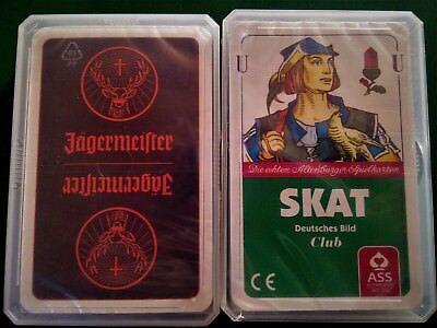 neues und original verpacktes Jägermeister Skatspiel ( Deutsches Bild )