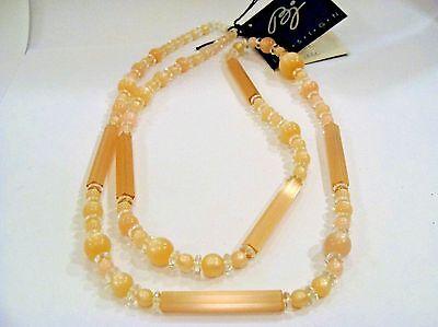 Vintage Beautiful CZECH BEADS Necklace 1970 Designed By Betty Jensen